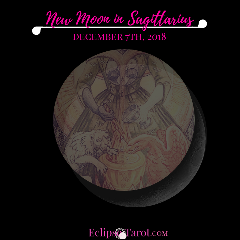 The Sun & Moon come together for the last time in 2018 as a New Moon in Sagittarius, the sign of the Optimistic Archer & Philosopher, on December 7th, 2018. Here I'll share my take on the energies of this New Moon, including my intuitive insight from what's going on in the cosmos (astrological influence) and wisdom from the Tarot Card aligned with it, so you can leverage this collective energy and move thru this phase with greater confidence. Prepared and aligned with the vibes