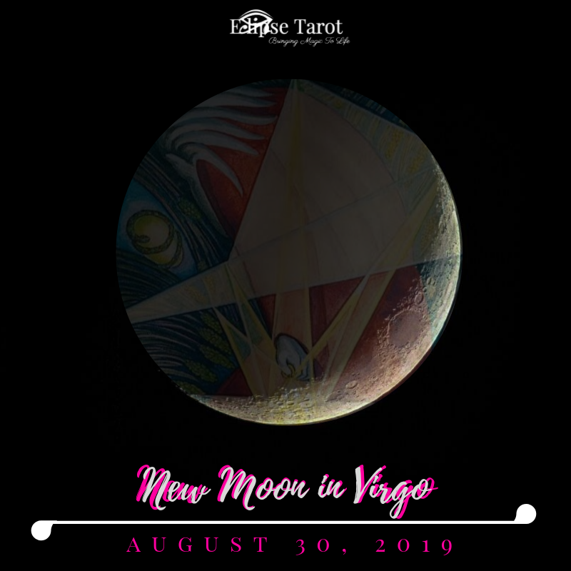 We've got a  New Moon in VIRGO  (Decan I) reviving the grounded wisdom of prudence with the  8 of Disks . This cosmic event occurs at 6 degrees of Virgo, nearly perfectly trine Uranus in Taurus and alongside the planet Mars in Virgo. We slow down to leap froward with this one, generating a lighter, less cumbersome, fuel for forward-momentum.