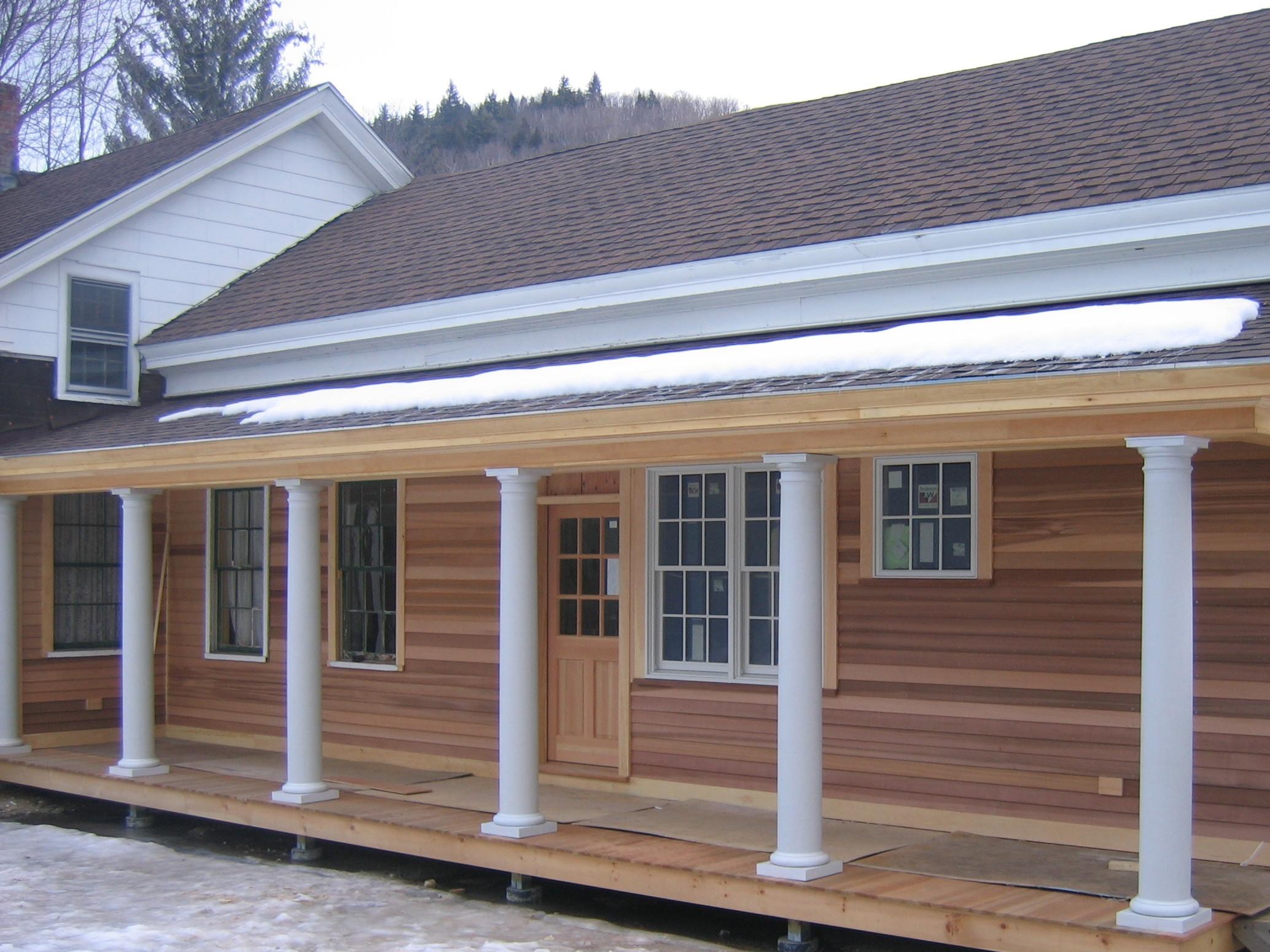 Porch renovation, Hawley MA