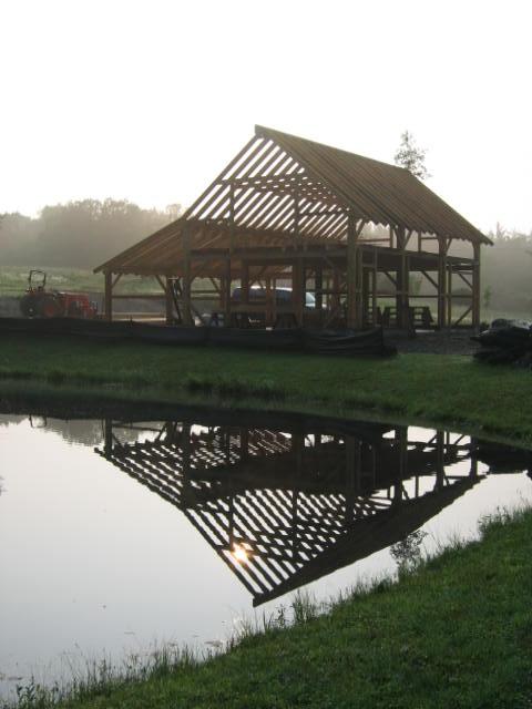 Timberframe barn, Hawley MA