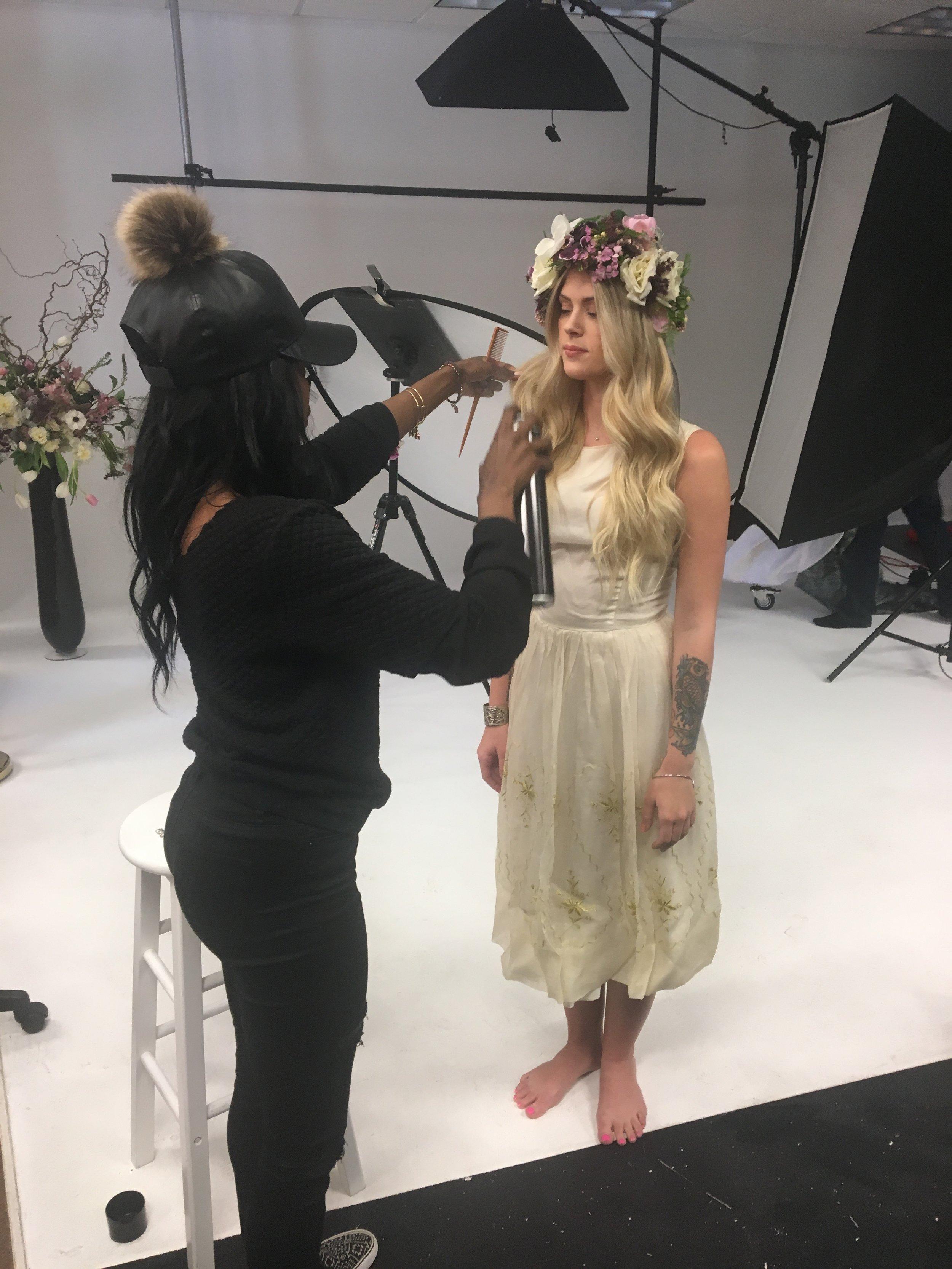 Bridal Model Sam- Spring Wedding Hair & Makeup Shoot