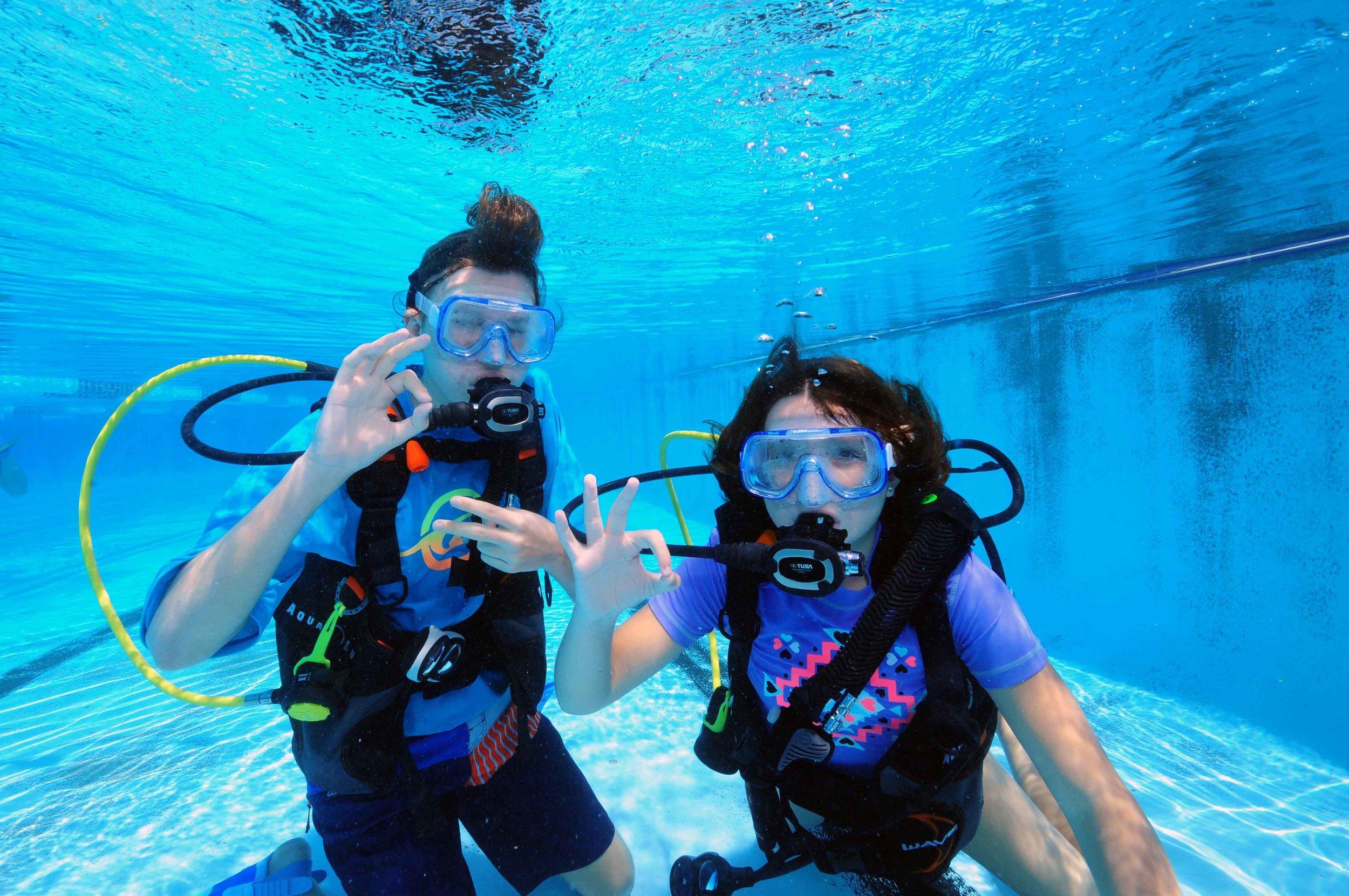kids diving Brisbane Bubblemaker Oct 16