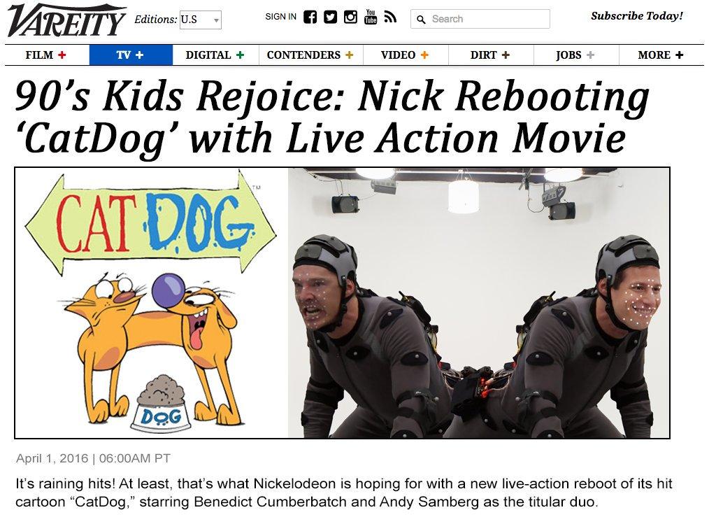 April Fool's post for Nickelodeon social platforms