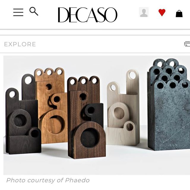 "Excited to have our work up on @decasohome ! Nice write up from their ""In Focus"" feature the other day too.  #phaedodesign #decaso"