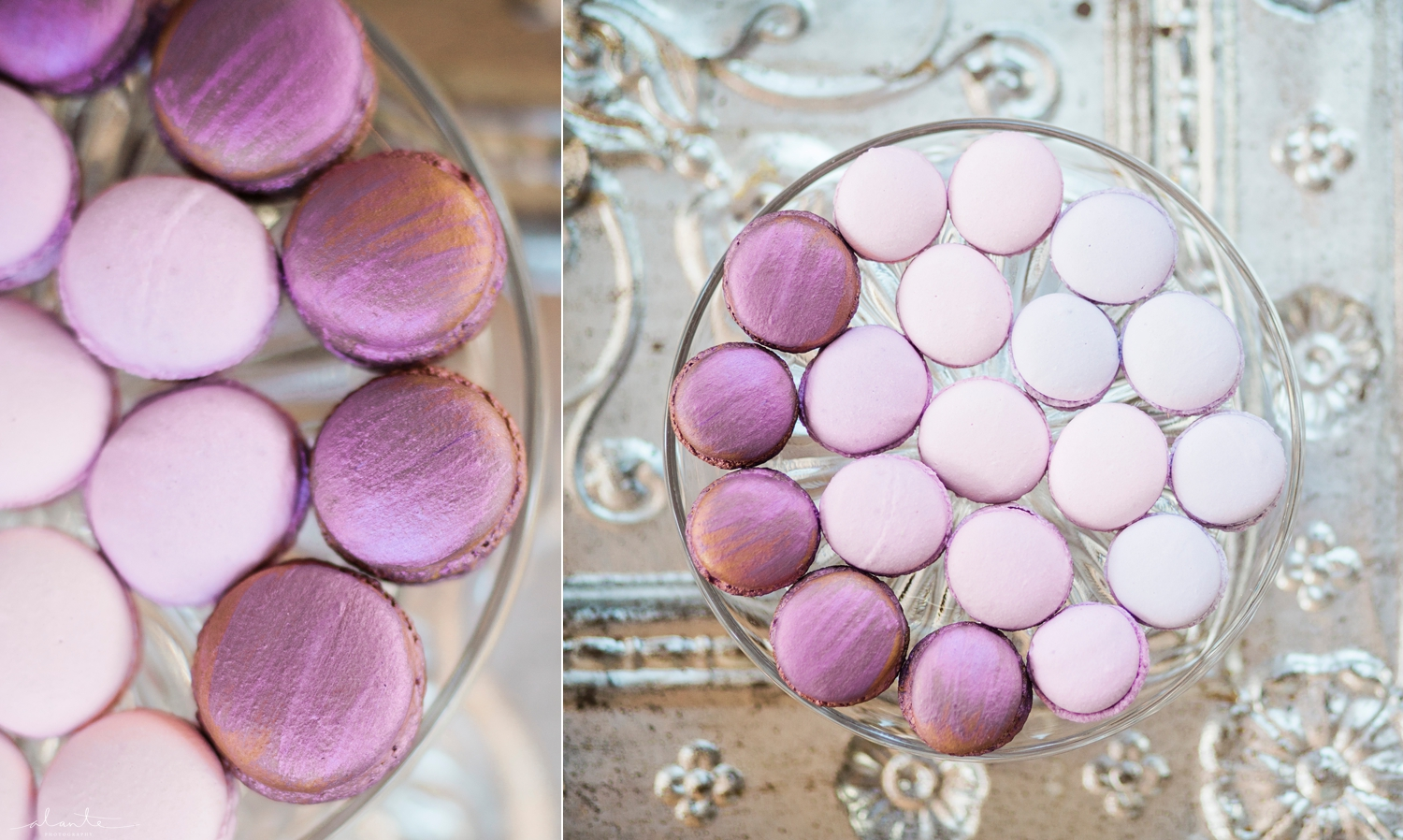 www.alantephotography.com | Purple ombre wedding macarons by Lilac Cake Boutique | Alante Photography