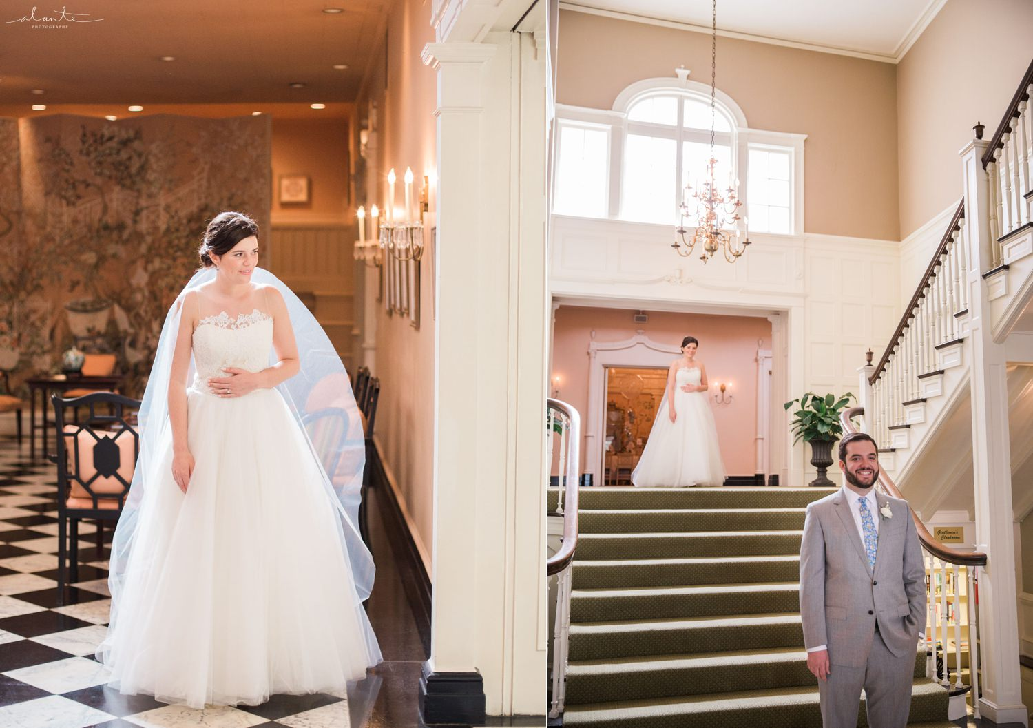 Wedding First Look at The Sunset Club by Alante Photography http://www.alantephotography.com