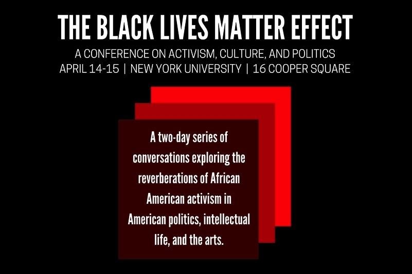 Flyer for  The Black Lives Matter Effect  conference