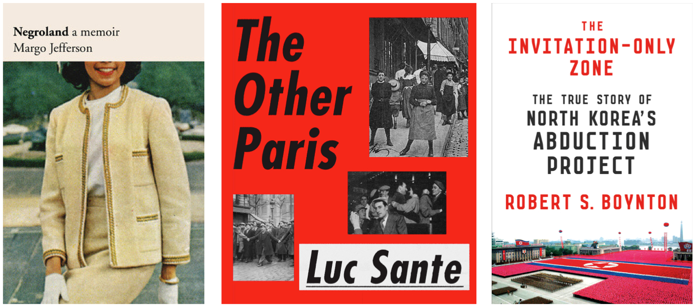 Covers for  Negroland, The Other Paris, and  The Invitation-Only Zone