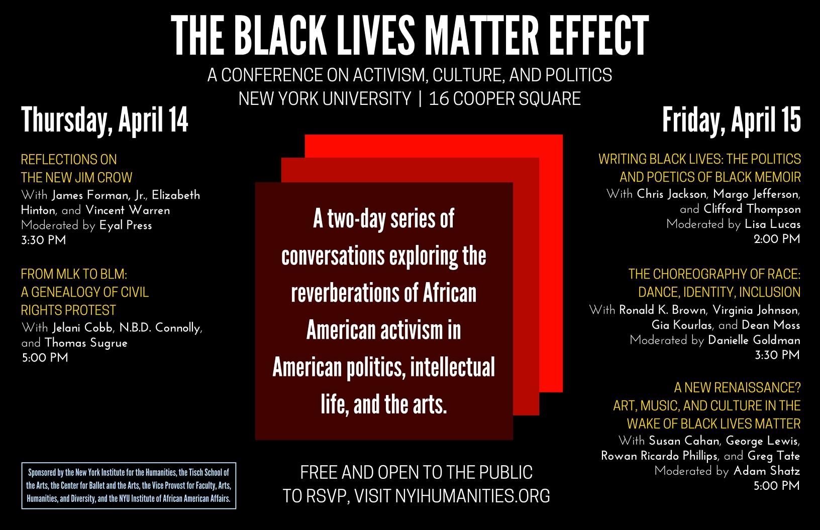 Flyer for  The Black Lives Matter Effect