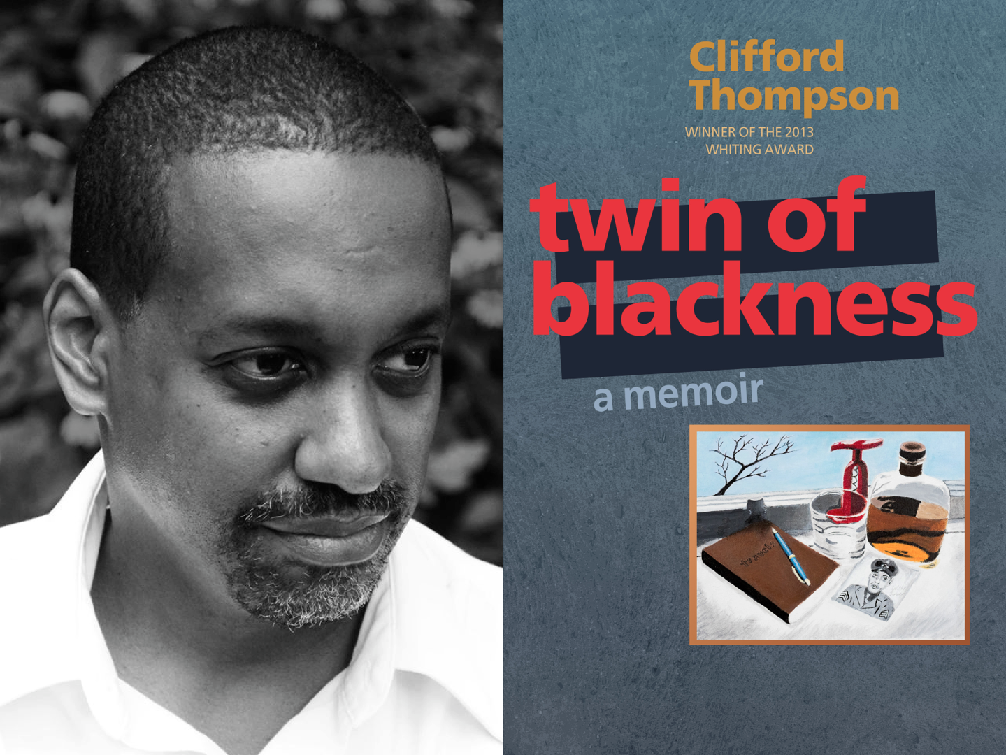 Clifford Thompson / Cover for  Twin of Blackness