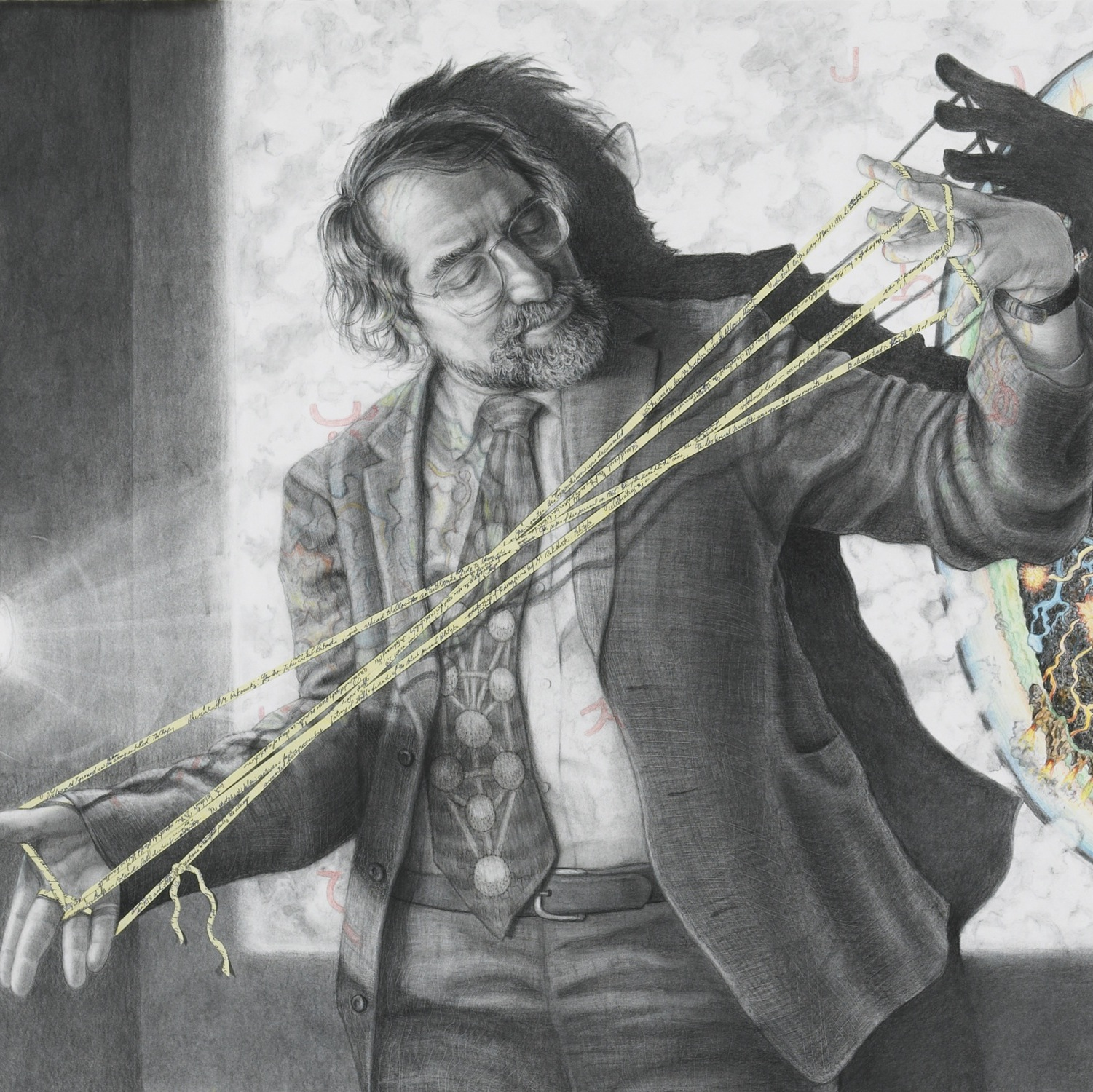 Drawing of Lawrence Weschler by Riva Lehrer