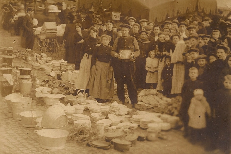 """A flea market, circa 1910, from """"The Other Paris."""" (FSG)"""
