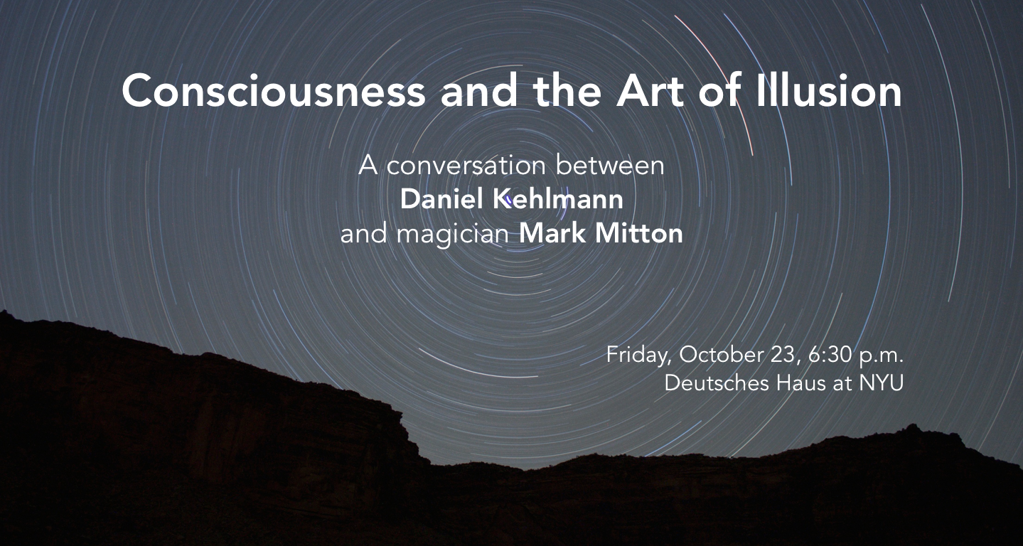 Flyer for  Consciouesness and the Art of Illusion