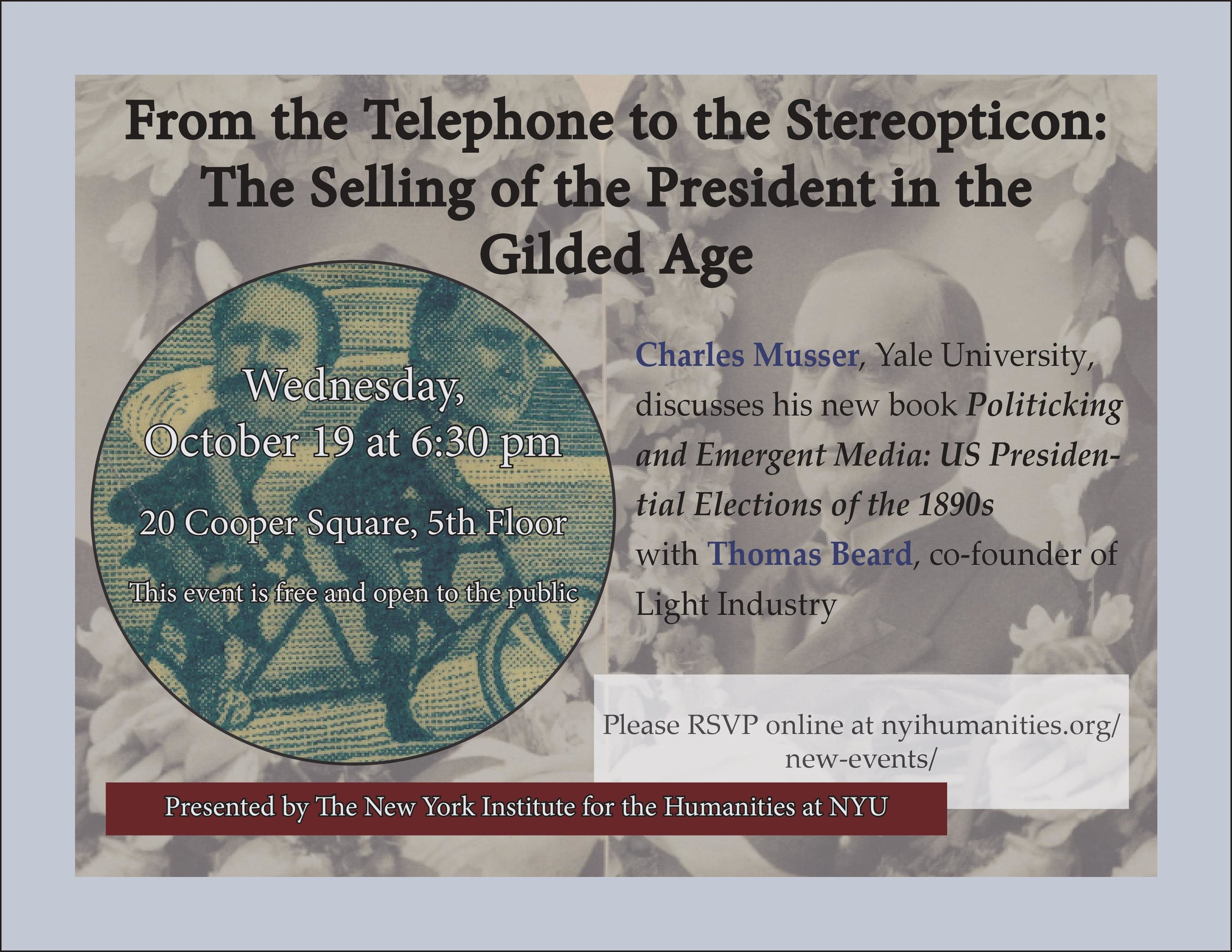 Flyer for the event  From the Telephone to the Stereoticon