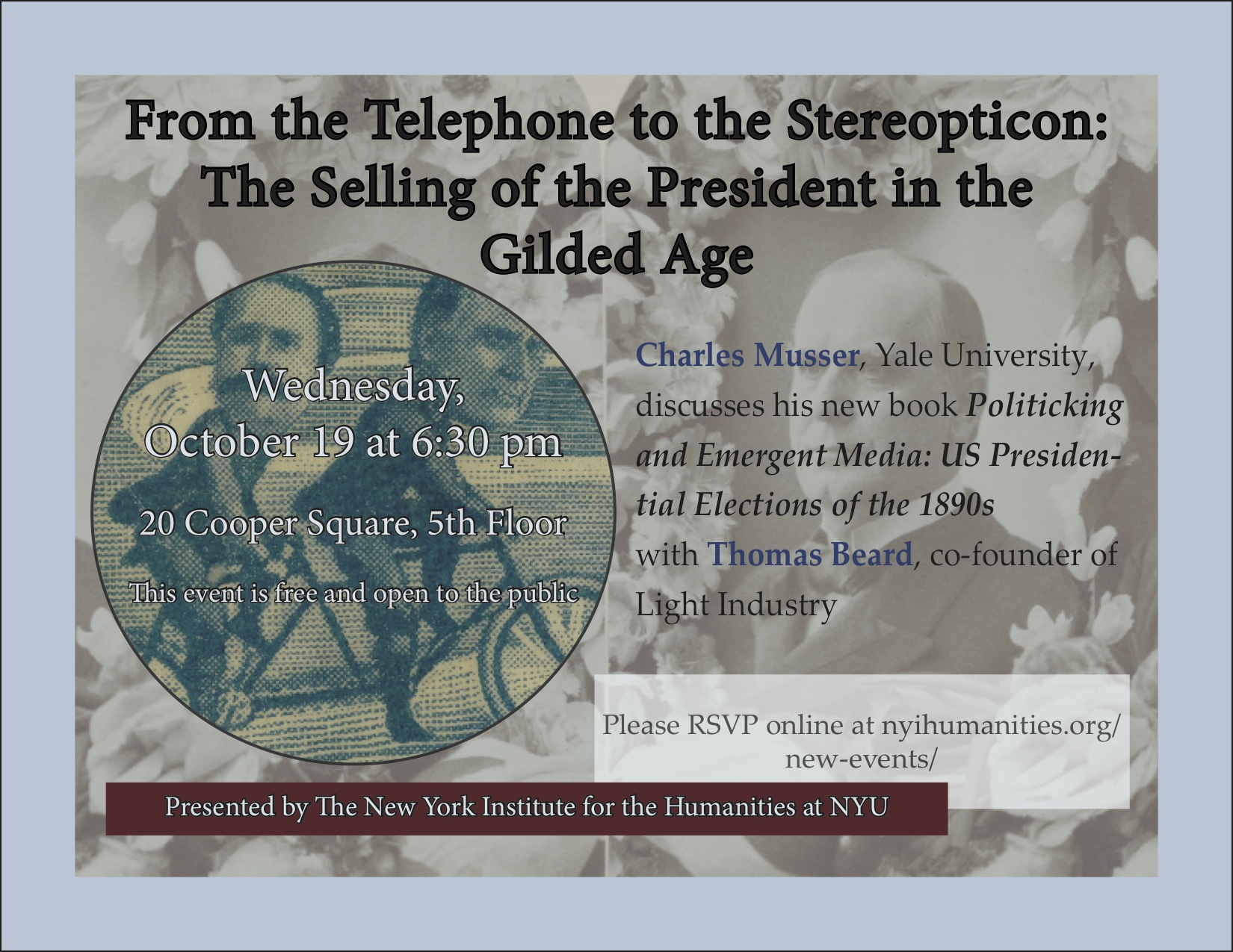 Flyer for  From the Telephone to the Stereopticon