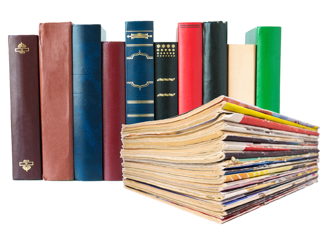 image of books and magazines