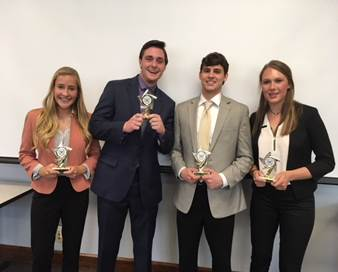 ItBrella's Team: Taylor Crowe, Mickey Kane, Max Kucer, and Grace Lagoner.