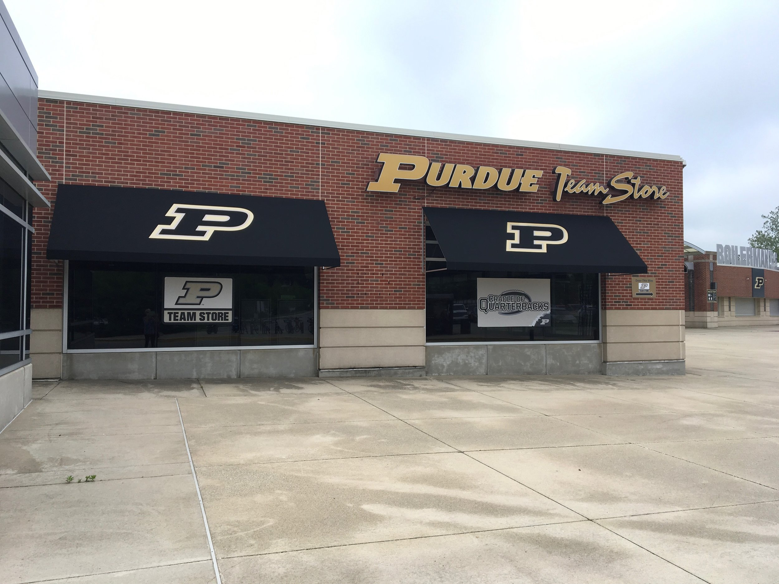 AFTER - Added awnings with Purdue's