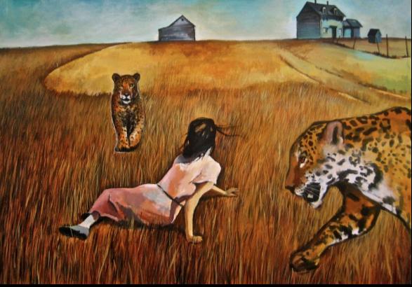 Christina's Jungle Cat World 28x40