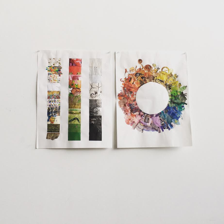 Collage Sample: Colour Wheel, Tone / Texture / Saturation Gradients