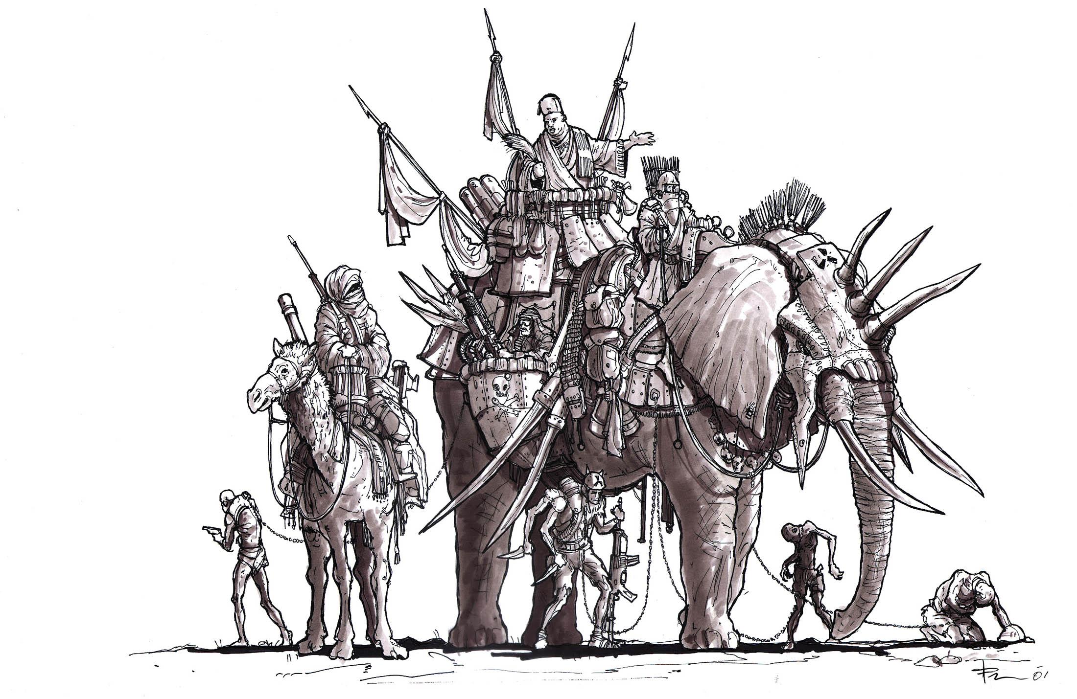 TJFrame-Art_Generals_elephantEntourage.jpg