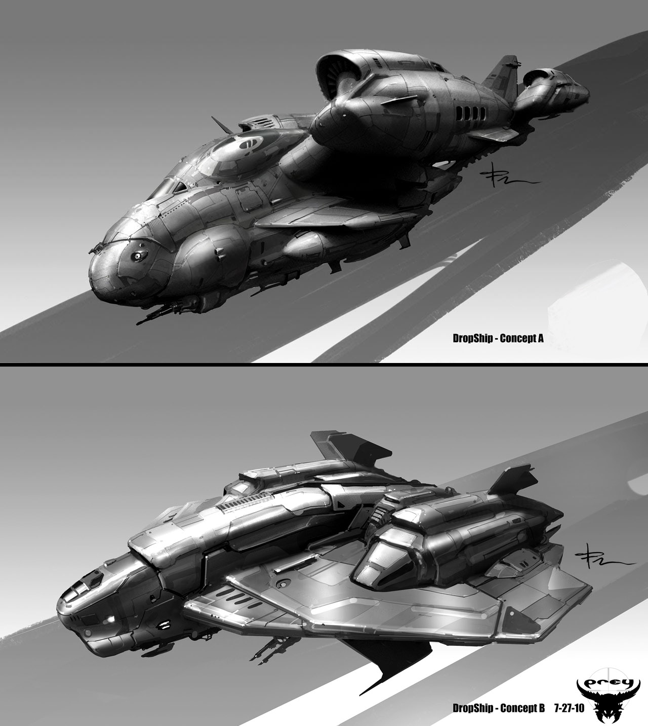 TJFRame-Art_Evolve_DropShipBW_roughs.jpg