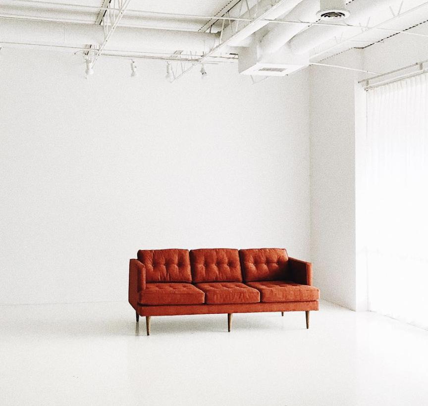 Orange Sofa   Price: $195