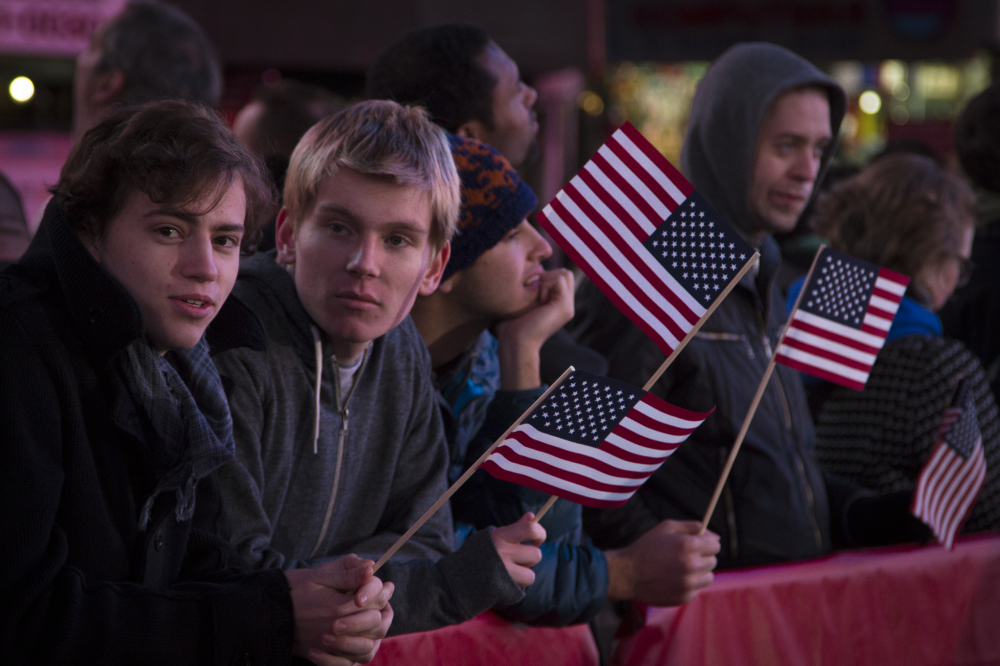 Election Day 2012: Crowds gather in Times Square to watch the election results come in.