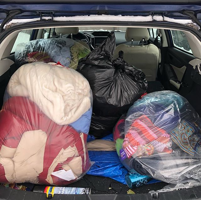 On a cold, snowy day like today, we're grateful to be able to work with our partners at St. George Anglican Church to give coats, blankets, and warm winter gear to our neighbours experiencing homelessness this winter. If you still want to give, St. George's is now hosting a monthly lunch and giveaway - so you can get us donations in time for next month! Bring your good condition coats, hats, gloves, blankets, socks, etc to Northview Community Centre Sunday's at 4:30 pm. . . . #ecclesia #ecclesiaoshawa #lampandlight #hope #newchurch #churchplant #gathering #scattering #grace #place #oshawa #ontario #myoshawa #loveyourneighbour #loveyourneighbourhood