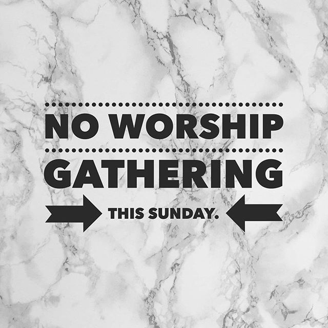 Due to some scheduling issues, we will NOT be gathering for worship this Sunday. Enjoy the weekend!