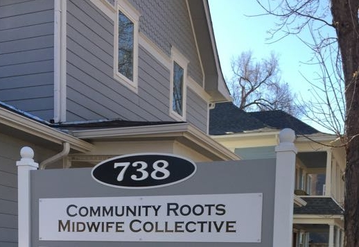 Community Roots Midwife Collective  shares an office with  well woman acupuncture on coffman street in longmont.  Our cozy, ADA compliant building is just south of luna cafe, across the street from THE COFFMAN/8TH ST RTD PARK-N-RIDE AT roosevelt park. Address: 738 Coffman Street, Longmont, CO 80501