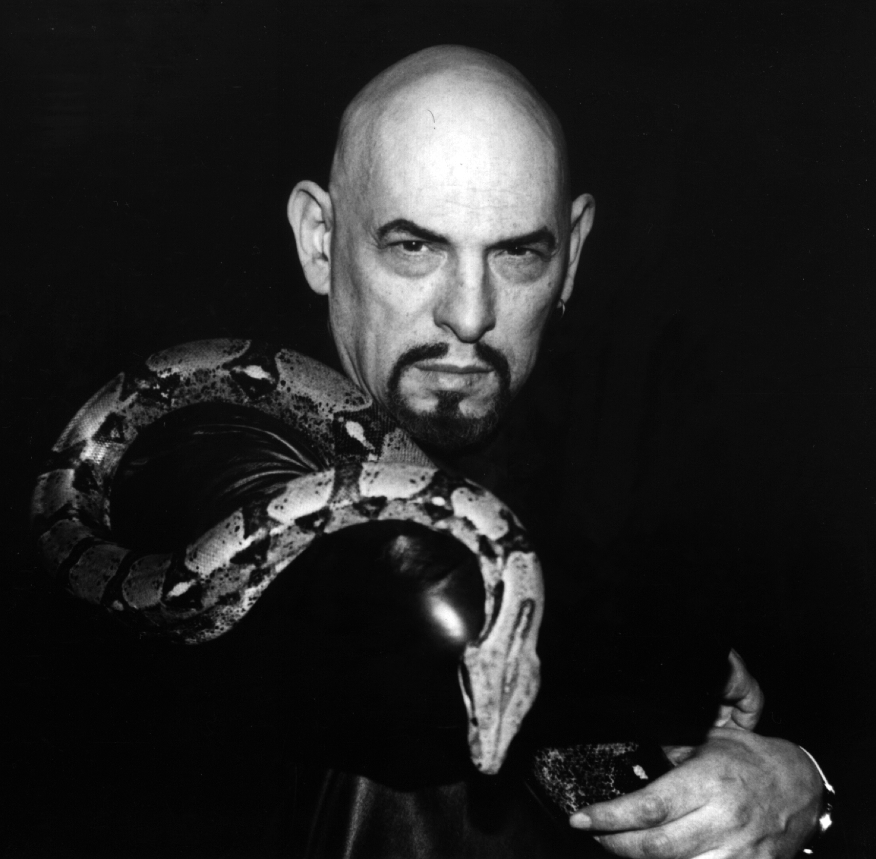 Anton LaVey with a friend