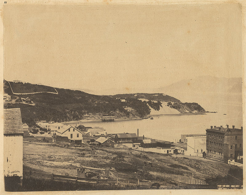A View Of North Beach From Atop Telegraph Hill, ca 1856