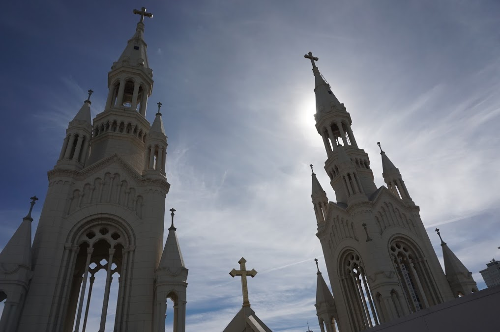 The Steeples Of The Saints Peter And Paul Church