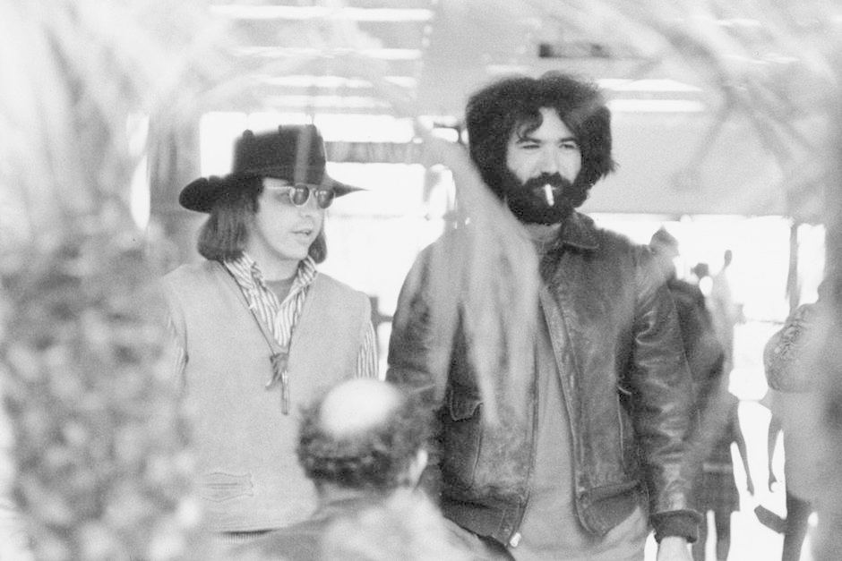 Owsley with Jerry Garcia in 1969  (photo: Rosie McGee via Reuters)