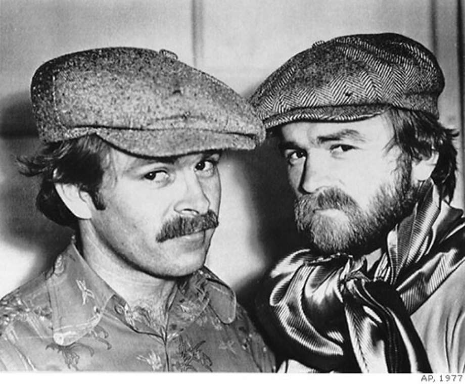 Artie (right) and Jim Mitchell in 1977  (photo courtesy of Associated Press)