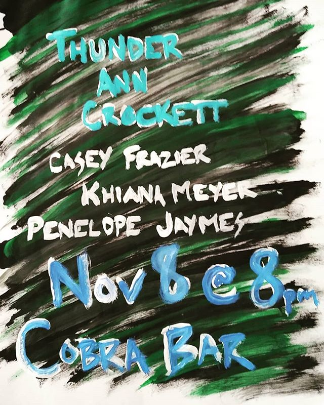 THURSDAY NOV 8, 8pm @ COBRA BAR STAGE. NO COVER! 🌈🐢👻 we're gonna play some new songs and WE ARE EXCITED. bring your mom!!! * * * * * #nashville #tennessee #tn #cobra #live #livemusic #supportlivemusic #independentmusic #indiemusic #indierock