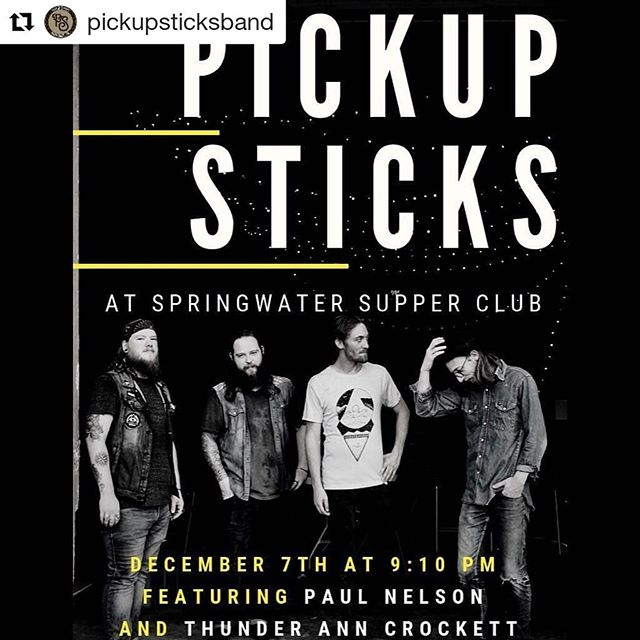 FRIDAY! we're playing at Springwater with our friends in @pickupsticksband + @goodoldpaul COME PARTY WITH US 🎉🎄🍻