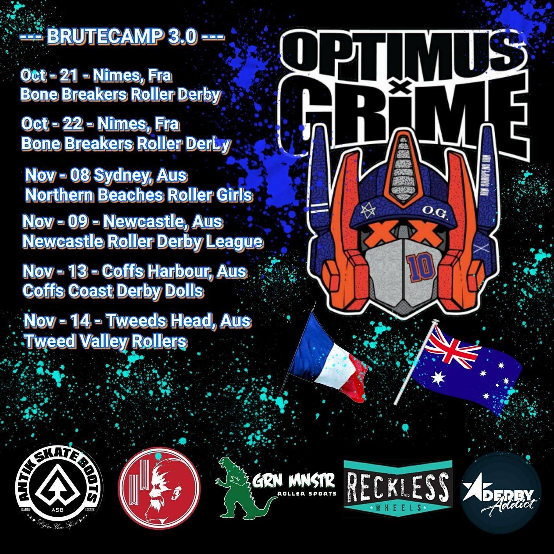 Optimus Grime Bootcamp 3.0 AUS Tour