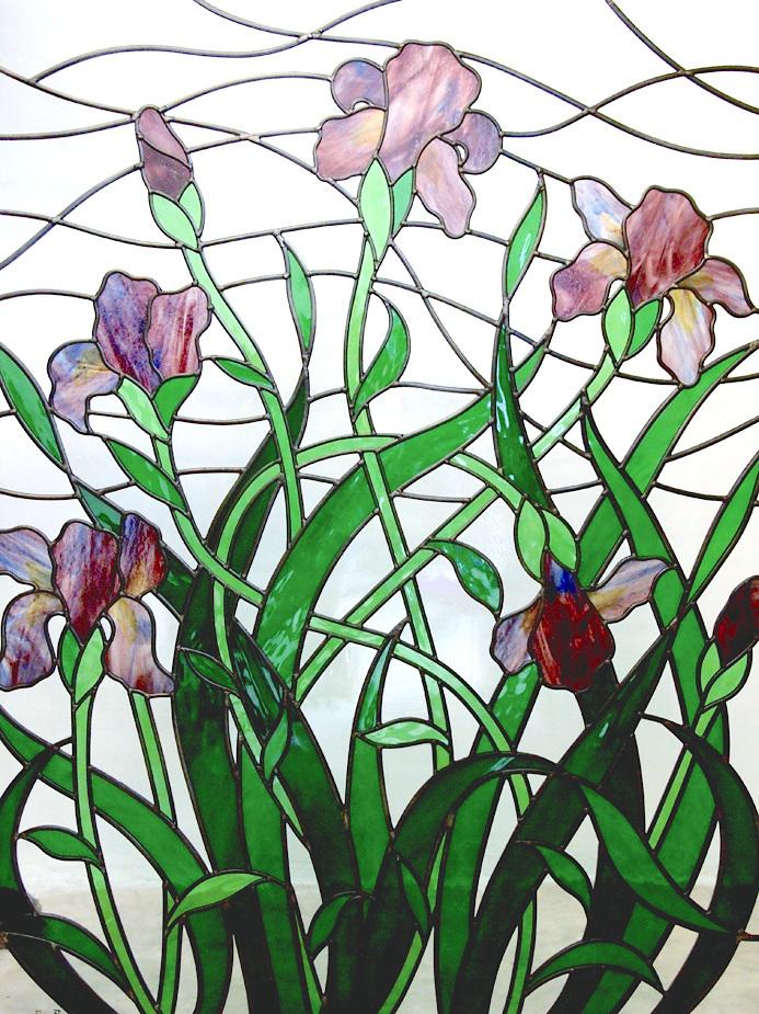 Art Nouveau Iris Window