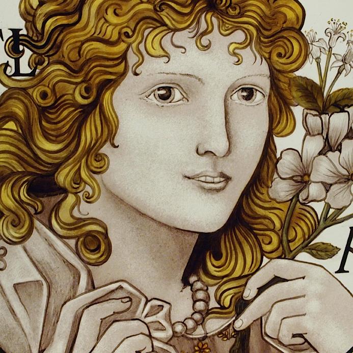 Pre-Raphaelite Roundel