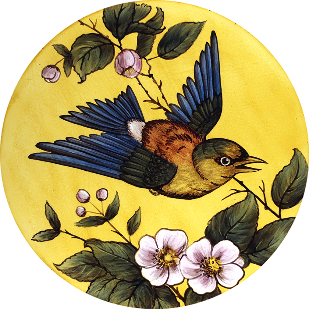 Colourful Victorian Bird Roundel
