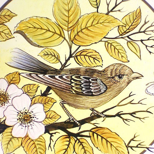 Victorian Bird Roundel Pair