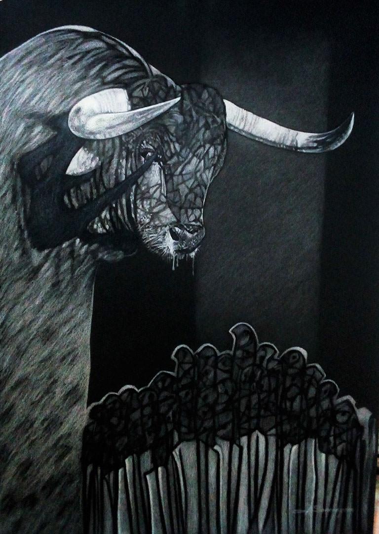 5 Último discurso, Lapiz de acuarela cartulina, 50 x 70 cm 2.jpg