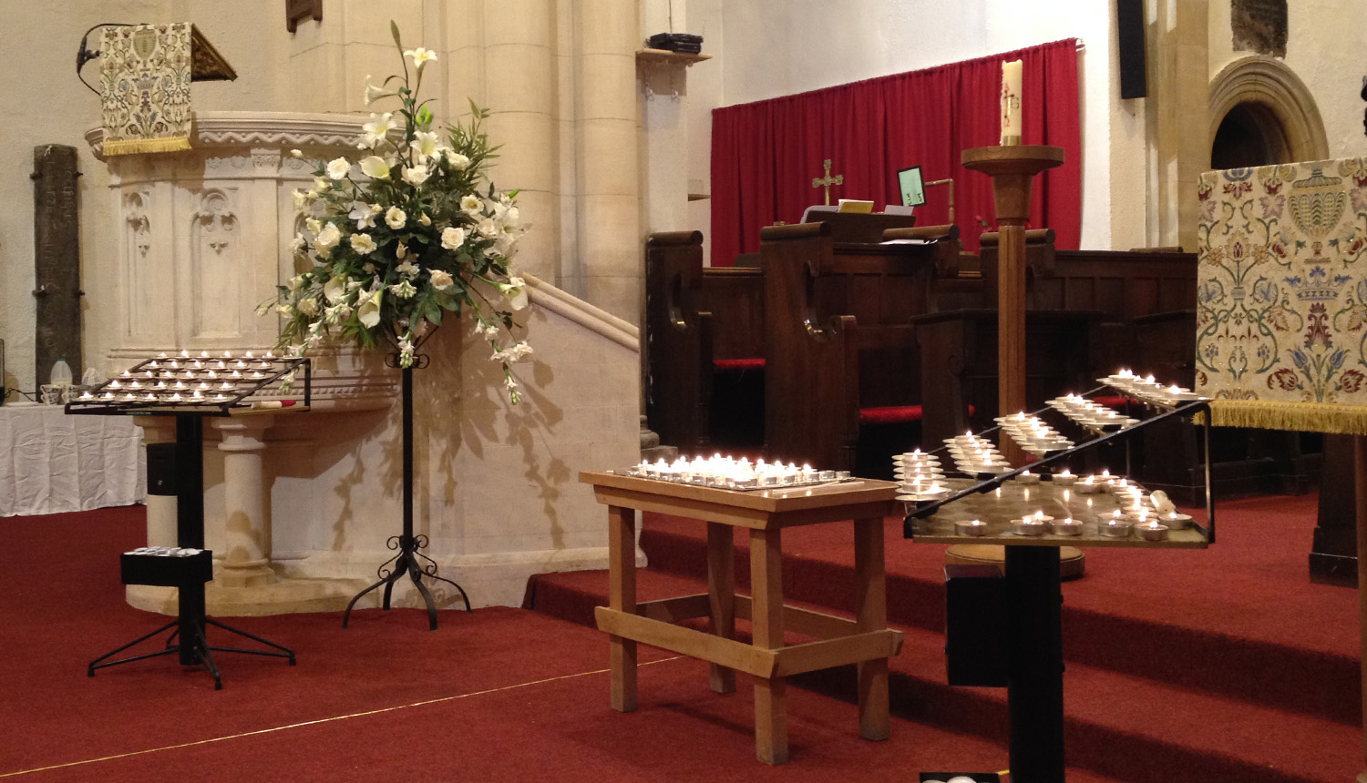 All Souls candles at St Tydfil's Old Parish Church