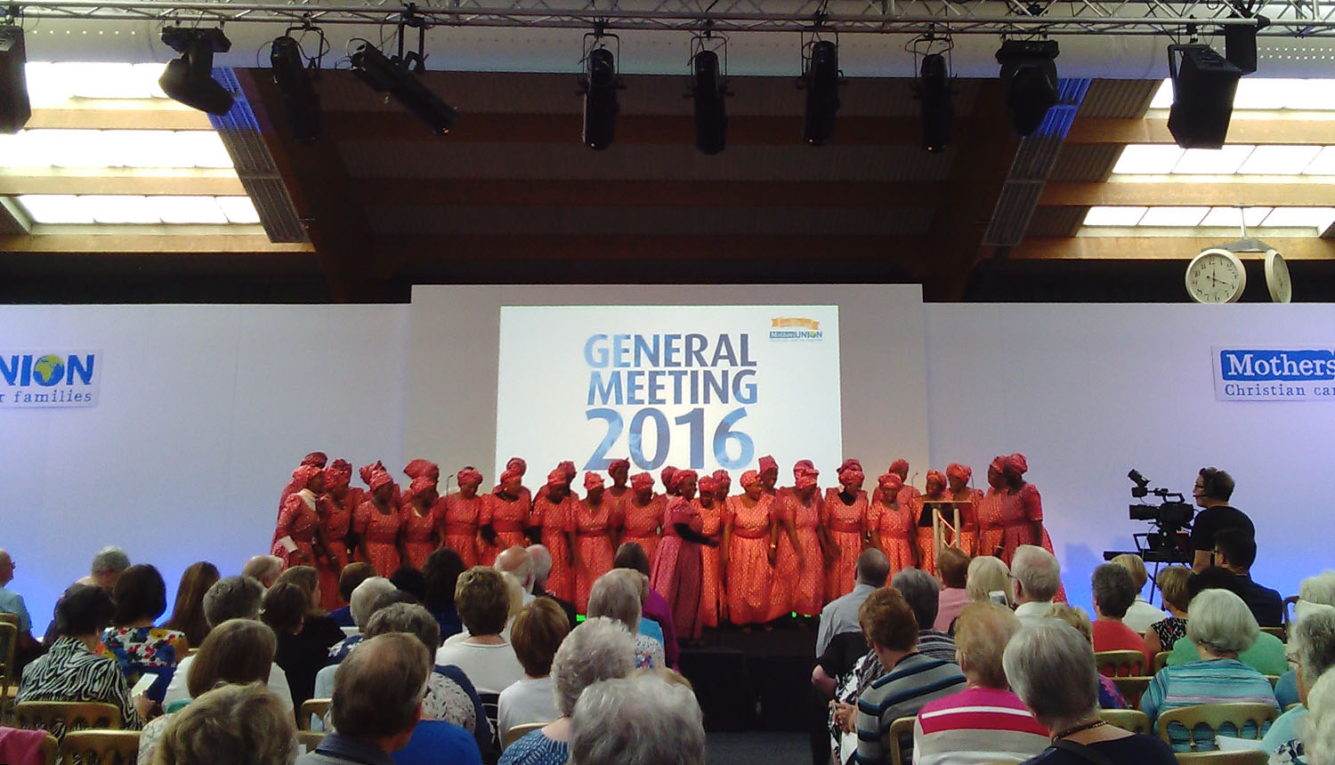 The Mary Sumner choir from Zambia sing at the MU General Meeting
