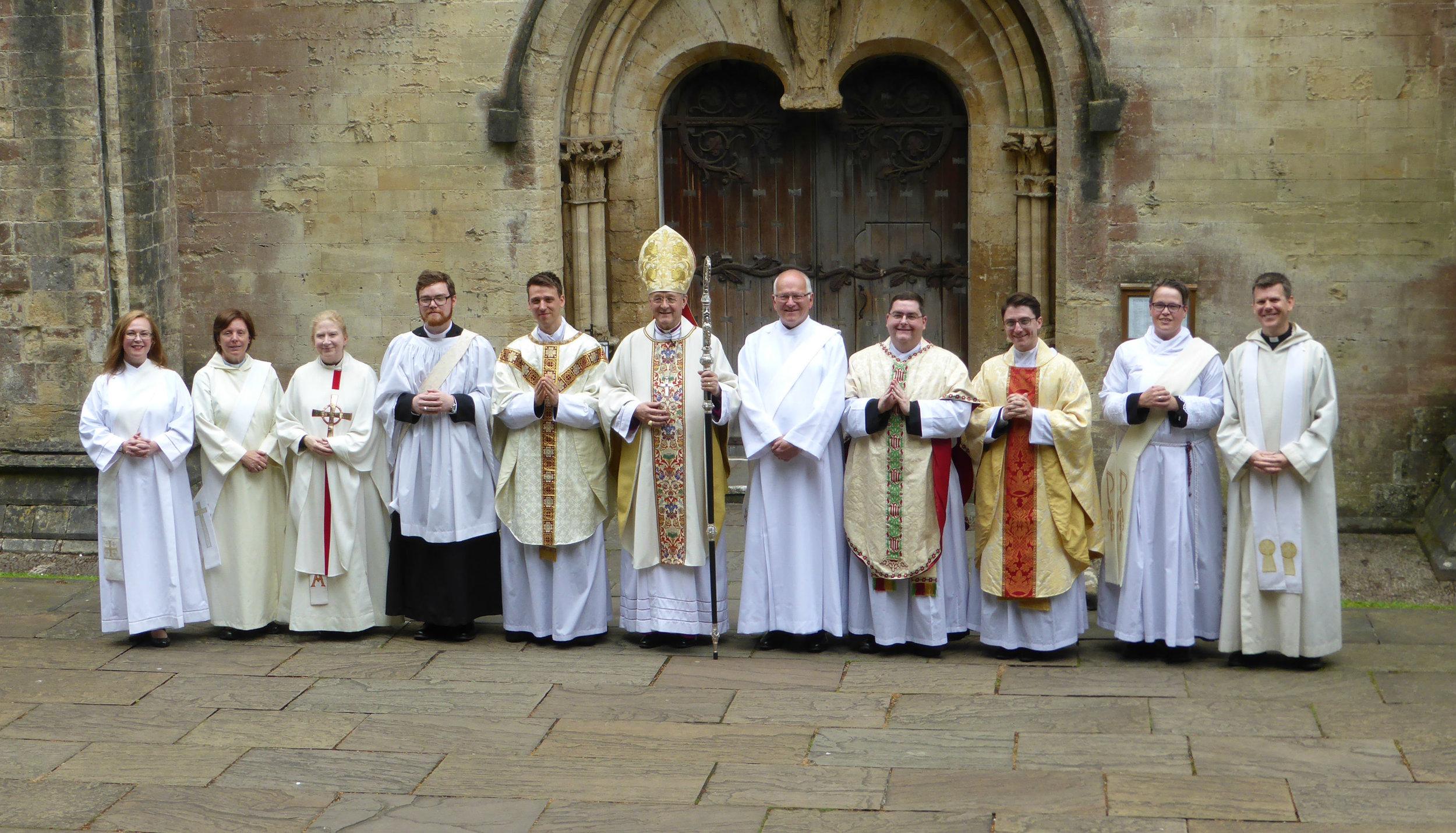 With Bishop John at Llandaff Cathedral