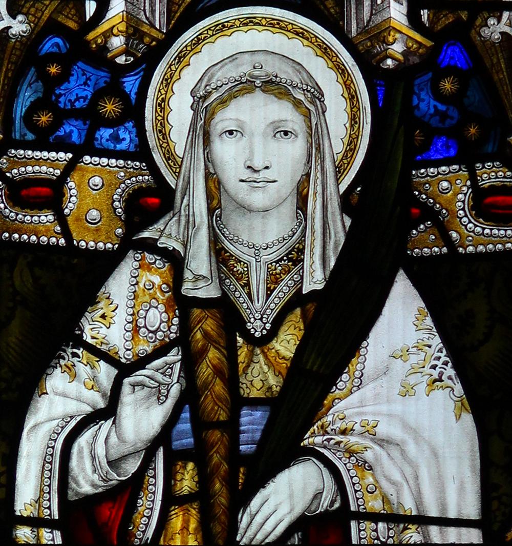 St Tydfil in Llandaff Cathedral    (credit  Llywelyn2000 )