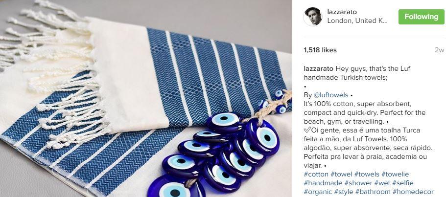 Lazzarato Luf towel review