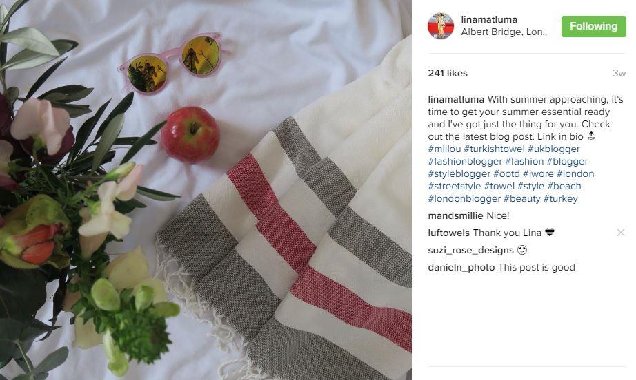 Lina Luf turkish towel review